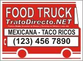 Food Truck Letrero Gratis Trato Directo